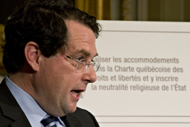Le ministre Bernard Drainville, initiateur du projet de... (Photo archives)
