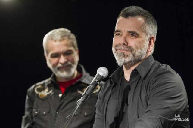 Michel Lemieux et Victor Pilon fêtent les 30... (Photo: Édouard Plante-Fréchette, La Presse)