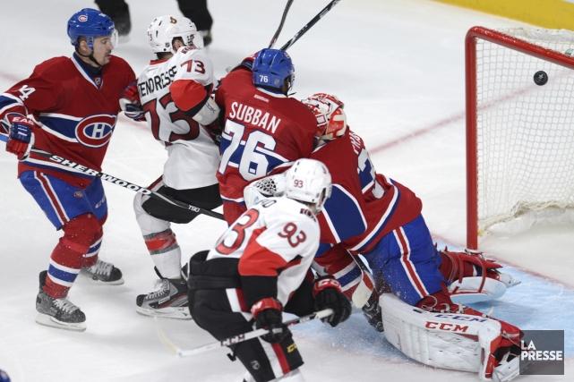 Le Canadien a accordé 31 buts dans les... (Photo Bernard Brault, La Presse)