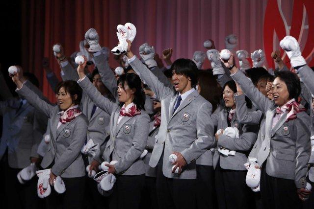 La délégation japonaise aux Jeux olympiques de Sotchi... (Photo Yuya Shino, Reuters)