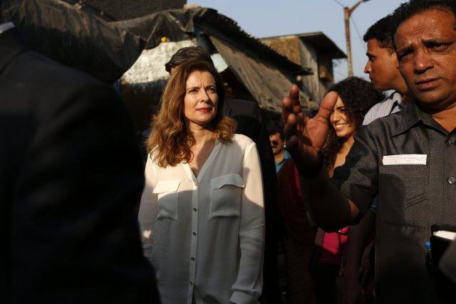 Valérie Trierweiler, en Inde dans le cadre d'un... (Photo MANSI THAPLIYAL, Reuters)