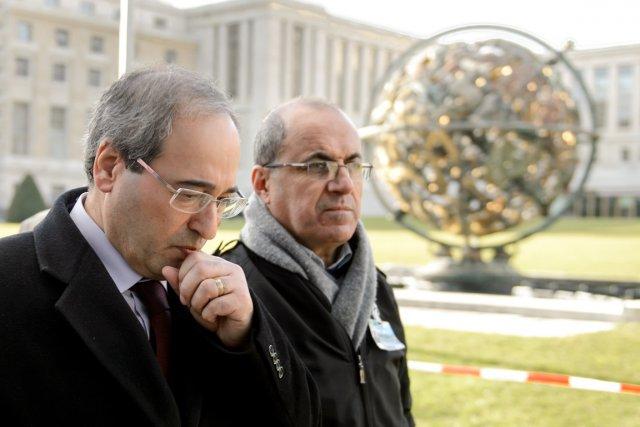 Le vice-ministre syrien des Affaires étrangères, Fayçal Moqdad... (PHOTO FABRICE COFFRINI, AFP)