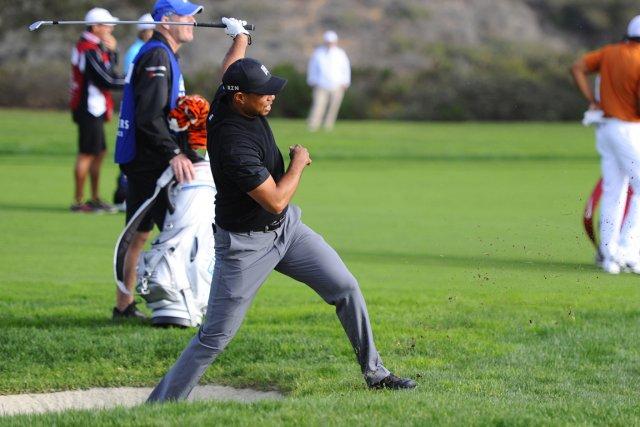Tiger Woods a joué une piètre ronde de... (Photo Christopher Hanewinckel, USA Today)