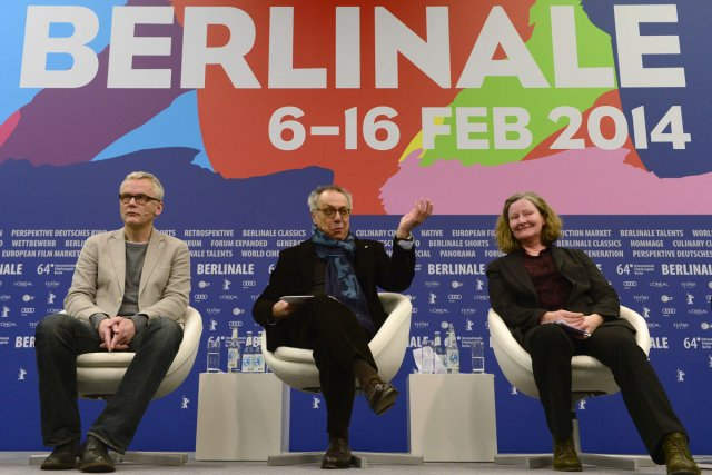 Dieter Kosslick, directeur de la Berlinale (au centre),... (Photo: AFP)