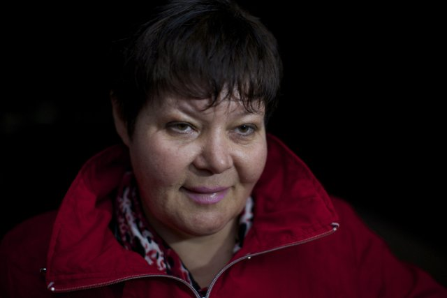 Svetlana Kravchenko du site internet Caucasian Knot, une... (Photo Alexander Zemlianichenko, AP)