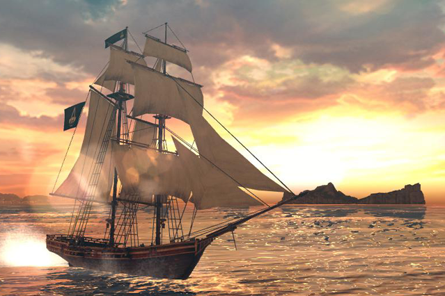 Assassin's Creed Pirates jouit notamment d'une belle direction artistique....