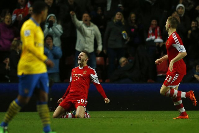Arsenal, accroché à Southampton (2-2) mardi lors de la 22e journée, pendant que... (Photo: Reuters)