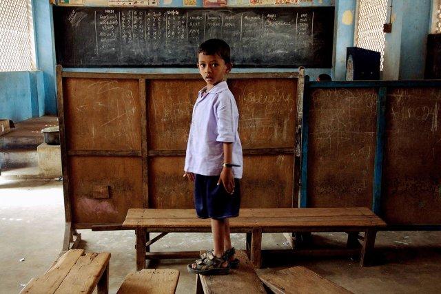 Un écolier indien.... (Photo d'archives Sebastian D'Souza, AFP)