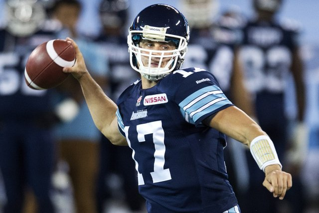 Zach Collaros... (Photo Nathan Denette, PC)