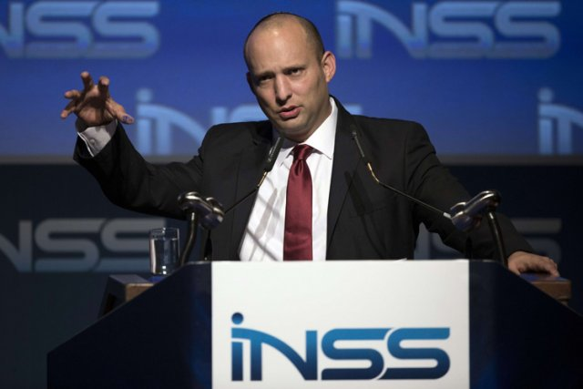 Fervent partisan de la colonisation, NaftaliBennett est catégoriquement... (Photo: AFP)