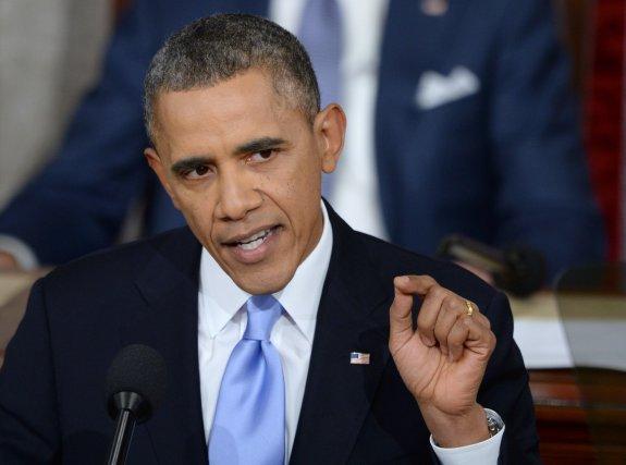 Lors de son discours sur l'état de la... (PHOTO Jewel Samad, Agence France-Presse)
