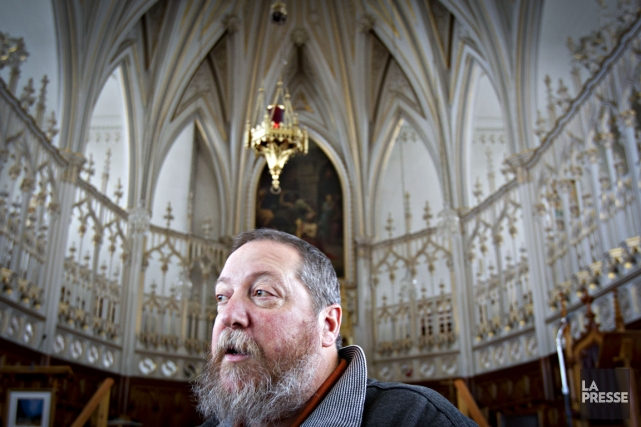 Le père Gilles Frigon, curé de L'Isle-Verte.... (Photo Olivier Jean, La Presse)