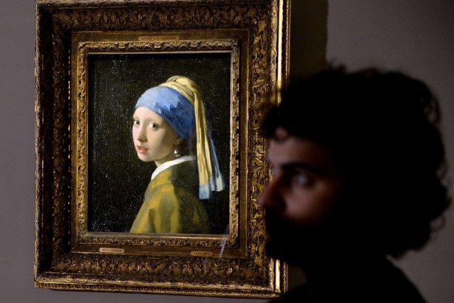 La jeune fille à la perle de Vermeer.... (Photo: AFP)
