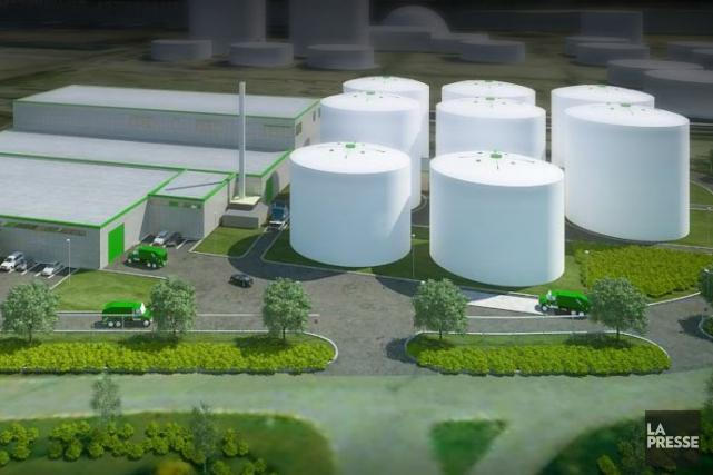 Modélisation de la future usine de biométhanisation de... (Image fournie par la Ville de Québec)
