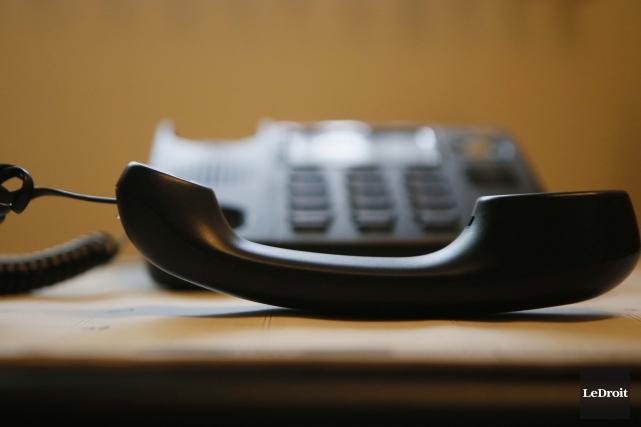 Le tout se passait au téléphone, aucun des... (Photo Simon Séguin-Bertrand, Le Droit)