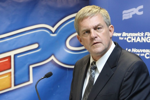 Le premier ministre du Nouveau-Brunswick, David Alward... (Photo RON WARD, PC)