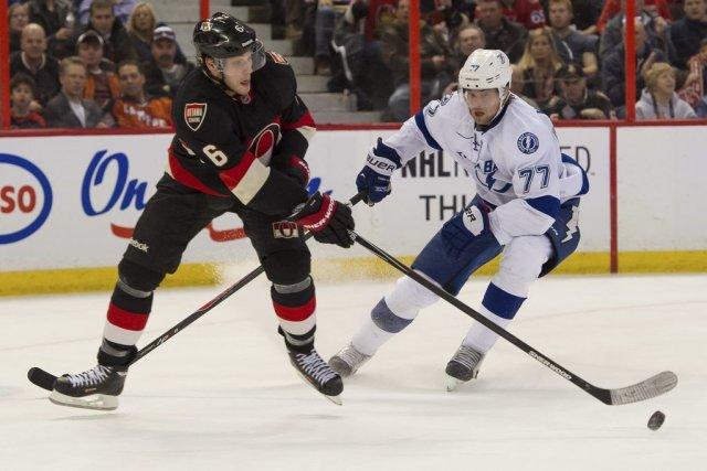 Les Sénateurs d'Ottawa ont profité des malheurs du Lightning de Tampa Bay et... (Photo USA Today Sports)