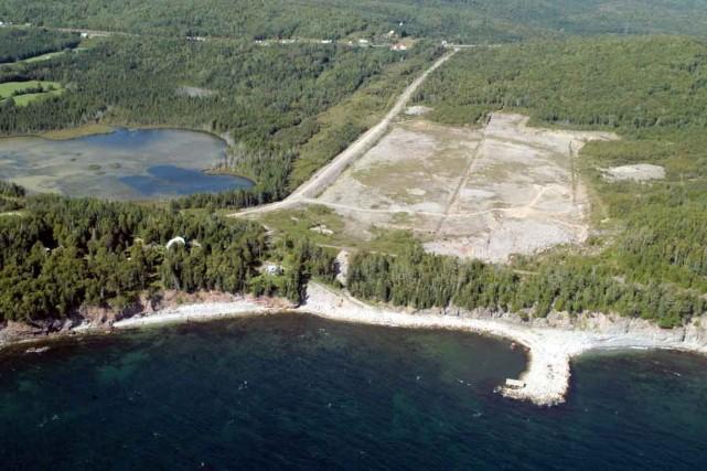 L'emplacement visé pour la cimenterie de Port-Daniel a... (Photo collaboration spéciale Gilles Gagné)