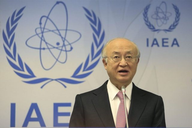 Le chef de l'AIEA Yukiya Amano n'a pas... (Photo Alexander Klein, Agence France-Presse)