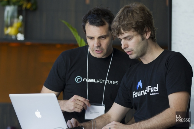 Ian Jeffrey, à droite, en compagnie de son... (Photo Ivanoh Demers, La Presse)