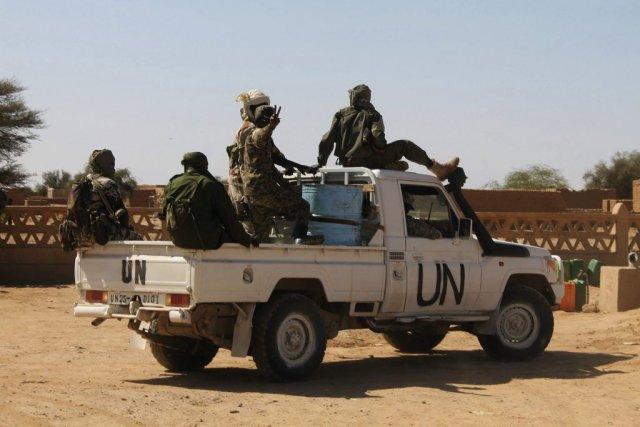 Des soldats de l'ONU à Aguelhok.... (Photo Reuters)