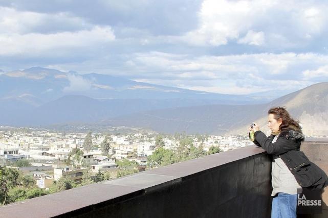 De l'observatoire du monument, le regard porte loin... (Photo Simon Chabot, La Presse)