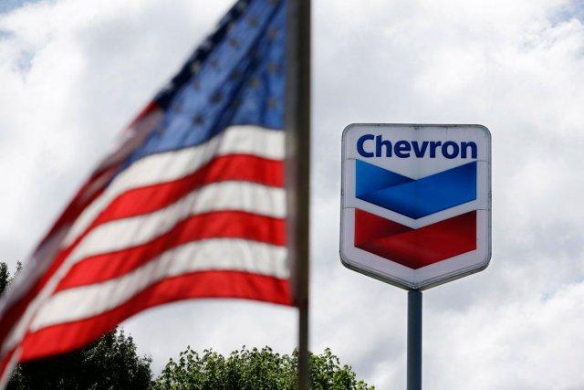 Le groupe pétrolier américain Chevron a vu ses résultats baisser l'an dernier,... (Photo Elaine Thompson, AP)