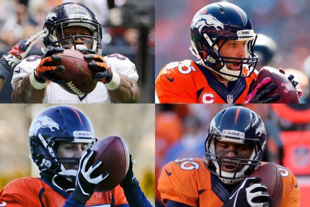 Peyton Manning peut compter sur quatre excellents receveurs... (Photos AP et USA Today)
