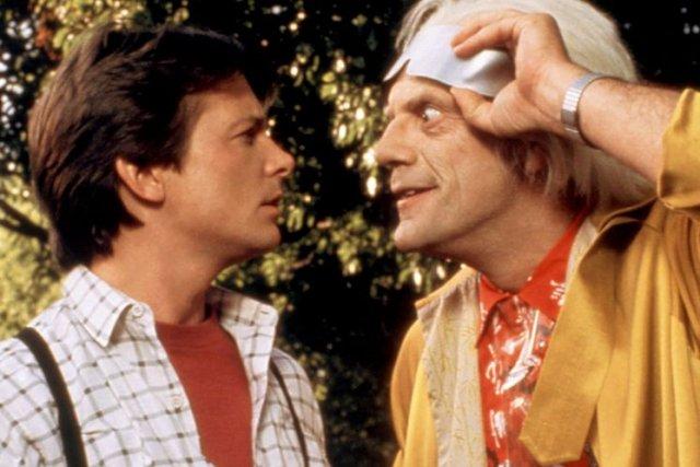 Michael J. Fox et Christopher Lloyd dans une... (Photo: archives La Presse Canadienne)