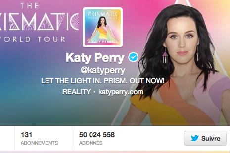 Ça y est, la chanteuse américaine Katy Perry a atteint le chiffre magique de 50...