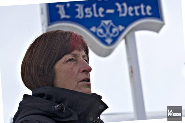 La mairesse de L'Isle-Verte Ursule Thériault.... (PHOTO OLIVIER JEAN, LA PRESSE)