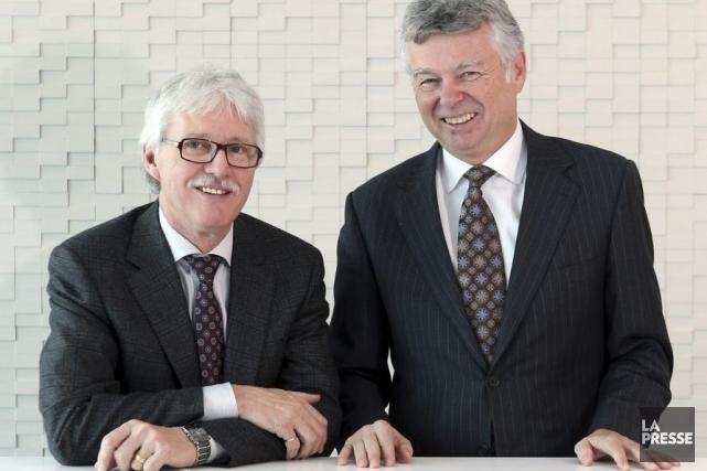 Charles Sirois et Serge Fortin.... (PHOTO MARTIN CHAMBERLAND, LA PRESSE)