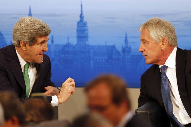 Le secrétaire d'État des États-Unis, John Kerry, en... (Photo Frank Augstein, AP)