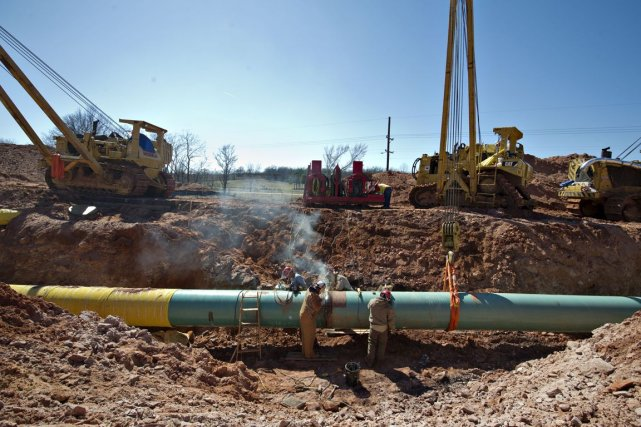 Le projet d'oléoduc Keystone XL doit transporter du... (Photo Daniel Acker, archives Bloomberg)