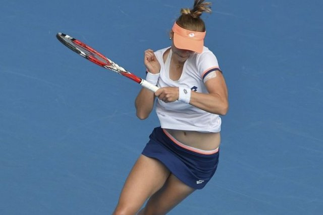 Ekaterina Makarova... (PHOTO PAUL CROCK, AFP)