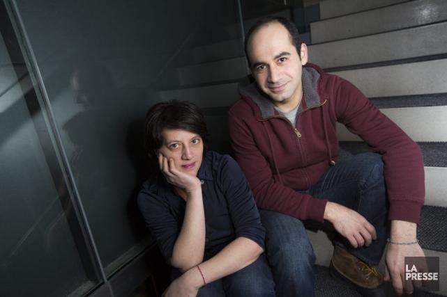 Dominique Chila et Samer Najari.... (PHOTO OLIVIER PONTBRIAND, LA PRESSE)