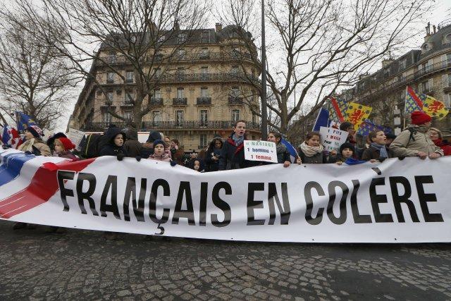 Une semaine après la mobilisation anti-gouvernementale baptisée «Jour... (Photo THOMAS SAMSON, AFP)