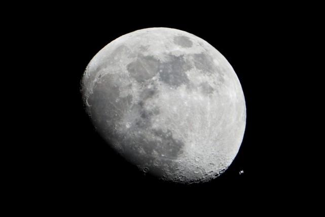 La Lune... (PHOTO FOURNIE PAR LA NASA)