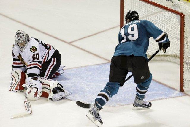Joe Thornton a donné la victoire aux Sharks... (Photo Tony Avelar, AP)