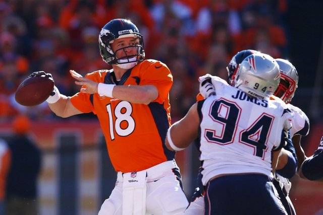 Grand perfectionniste devant l'Éternel, Peyton Manning (18) assure... (Photo archives AP)