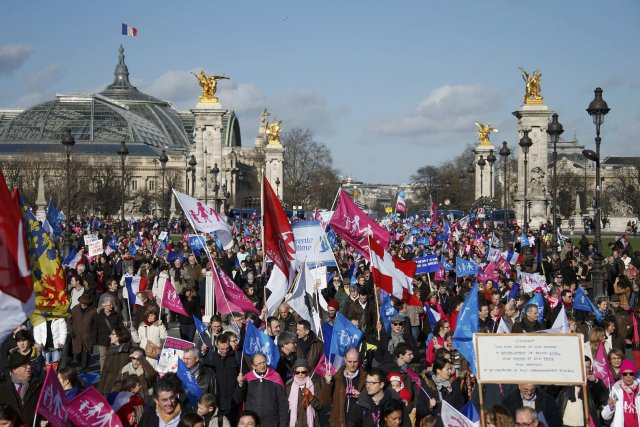 Après s'être mobilisés en novembre 2012 contre le... (PHOTO BENOIT TESSIER, REUTERS)