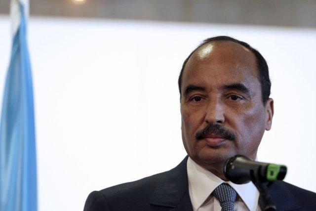 Le premier ministre mauritanien, Moulaye Ould Mohamed Laghdaf... (Photo KENZO TRIBOUILLARD, AFP)