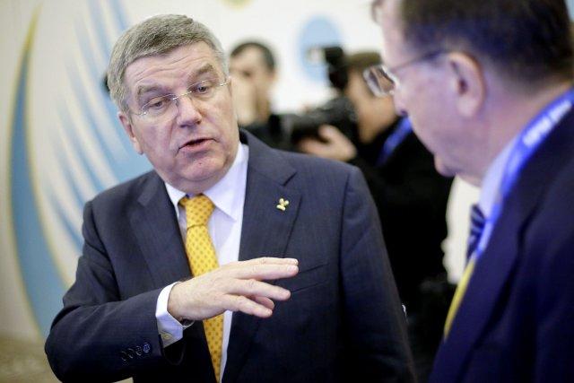 Le président du Comité international olympique (CIO), Thomas... (Photo David Goldman, AP)