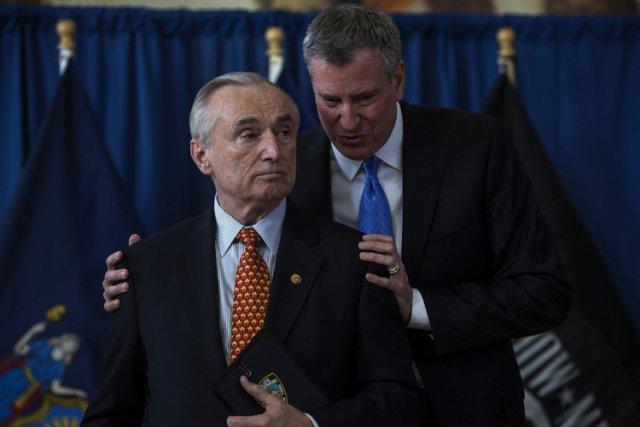 Le maire de New York, Bill de Blasio... (Photo: Reuters)