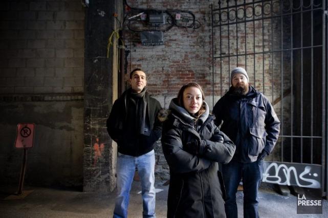 Yazid Belkhir, Estelle Jugant et Jean-François Poliquin ont... (Photo: Marco Campanozzi, La Presse)