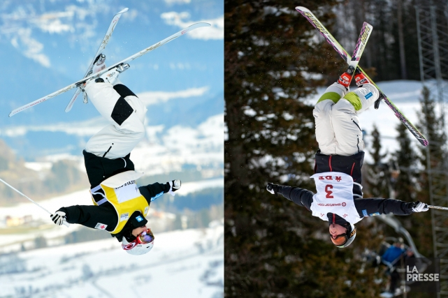 Mikaël Kingsbury et Alexandre Bilodeau... (Photos AP)
