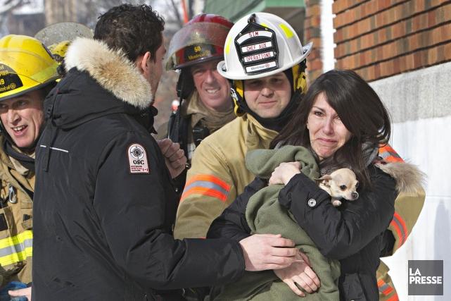 Des dommages semblent aussi avoir été causés à... (Photo Patrick Sanfaçon, La Presse)