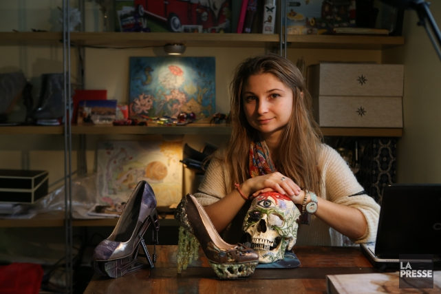 Anastasia Radevich voit dans la chaussure un moyen... (Photo Martin Chamberland, La Presse)