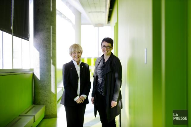Michèle Thibodeau-DeGuire (à gauche) est présidente du conseil... (Photo Marco Campanozzi, La Presse)