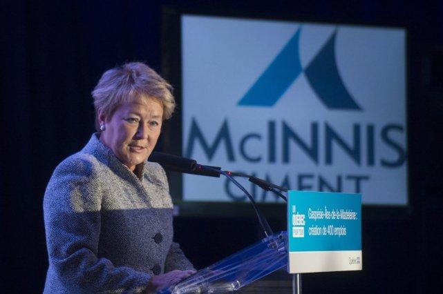 Pauline Marois lors de l'annonce de l'implantation de... (PHOTO LA PRESSE CANADIENNE)
